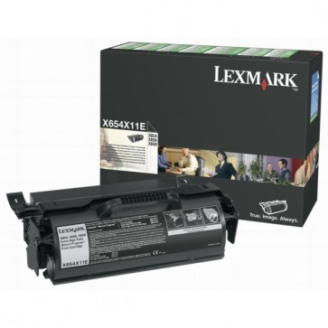 Toner, black, LEXMARK X654X11E