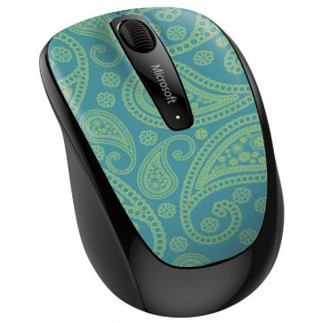 Mouse Wireless MICROSOFT Mobile 3500 Aqua Paisley, 1000dpi
