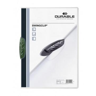 Dosar din plastic, cu clip, verde, DURABLE Swingclip