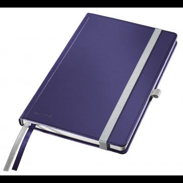 Caiet de birou, A5, matematica, coperta dura, albastru-violet, LEITZ Style