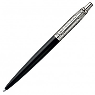 Pix, PARKER Jotter Premium Satin Black Stainless Steel Chiselled CT