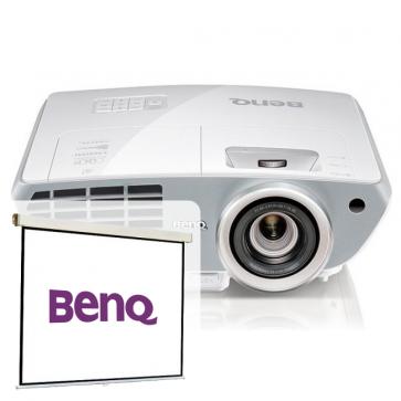 Videoproiector FULL HD 3D, BENQ W1350 + CADOU Ecran de proiectie, 160 x 120cm