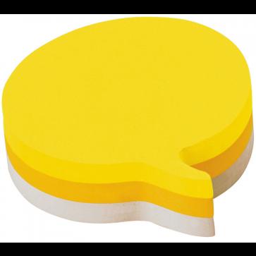Notes autoadeziv cub in forma de idee, 225 file/set, diferite culori, POST-IT 2007SP