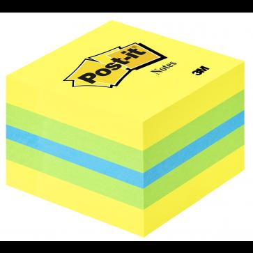 Notes autoadeziv, 51 x 51mm, 400 file/set, diferite culori, POST-IT 2051-L