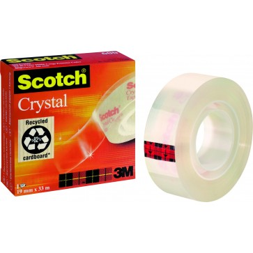Banda adeziva, 19mm x 10m, SCOTCH Crystal 600
