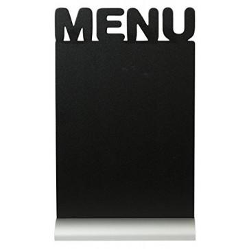Tabla pentru creta, suport aluminiu, forma Menu, SECURIT