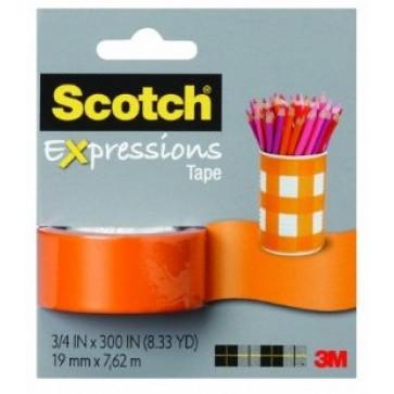 Banda adeziva decorativa, oranj, blister, SCOTCH Expressions