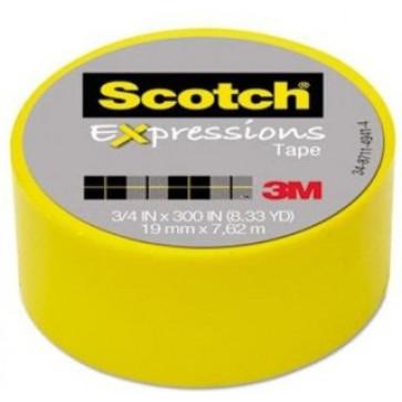 Banda adeziva decorativa, galben, SCOTCH Expressions