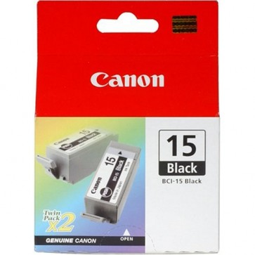 Cartus, black, 2 buc./set, CANON BCI-15BK