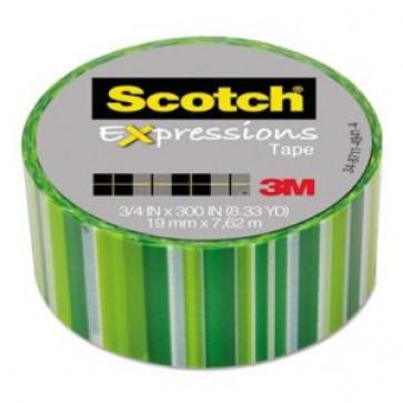 Banda adeziva decorativa, dungi verzi, SCOTCH Expressions