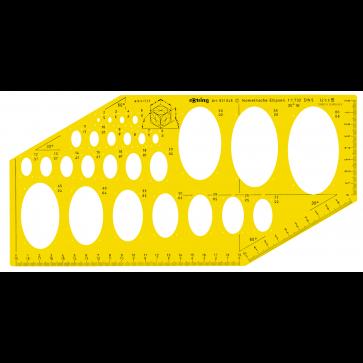 Sablon elipse isometrice, 2-60mm, ROTRING