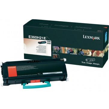 Toner, black, LEXMARK E360H21E