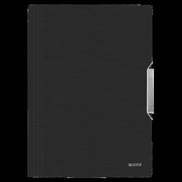 Mapa din plastic, A4, cu elastic, negru satin, LEITZ Style