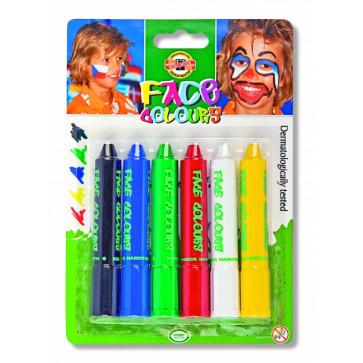 Culori pentru pictat pe fata, 6 culori/set, KOH-I-NOOR