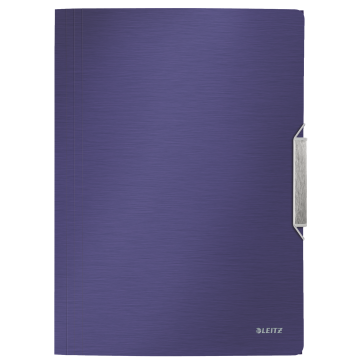 Mapa din plastic, A4, cu elastic, albastru-violet, LEITZ Style