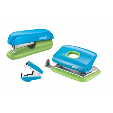 Set, capsator 10 coli si perforator FC 10 si decapsator, albastru/verde, RAPID F5