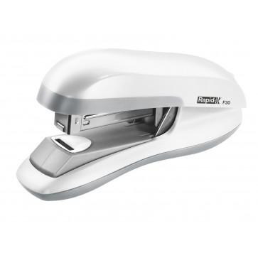 Capsator plastic de birou, pentru maxim 30 coli (capsare plata), capse 24/6, alb, RAPID F30
