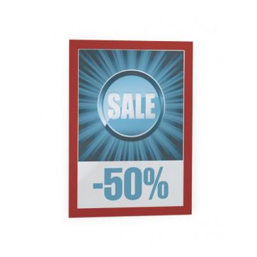 Buzunare pentru afisare, adezive, magnetice, A4, 2 bucati/set, rosu, DURABLE MagaFrame