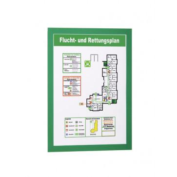 Buzunare pentru afisare, adezive, magnetice, A4, 2 bucati/set, verde, DURABLE MagaFrame