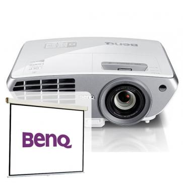 Videoproiector FULL HD 3D, BENQ W1300 + CADOU Ecran de proiectie, 160 x 120cm