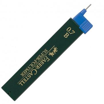 Mine pentru creion mecanic, 0.7mm, B, FABER CASTELL Super-Polymer