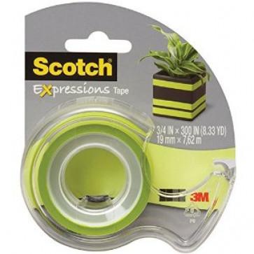 Banda adeziva decorativa, verde, dispenser, SCOTCH