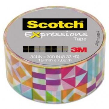 Banda adeziva decorativa, forme geometrice asortate, SCOTCH Expressions