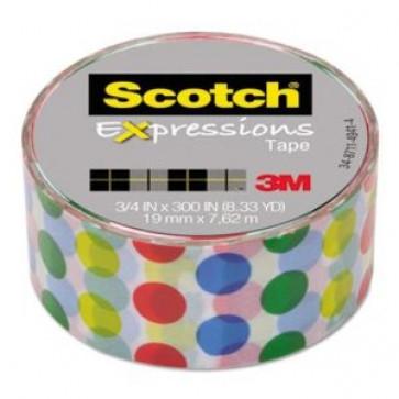 Banda adeziva decorativa, buline colorate, SCOTCH Expressions