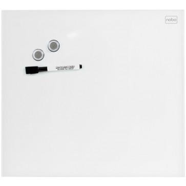 Tabla magnetica - whiteboard, din sticla, 45 x 45cm, alb, NOBO Diamond