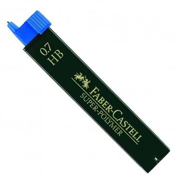 Mine pentru creion mecanic, 0.7mm, HB, FABER CASTELL Super-Polymer
