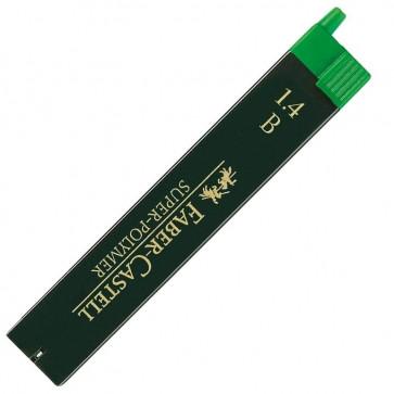 Mine pentru creion mecanic, 1.4mm, B, FABER CASTELL Super-Polymer
