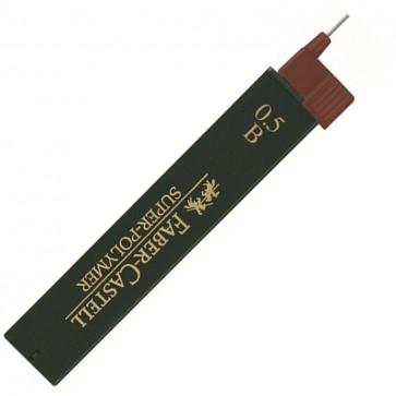 Mine pentru creion mecanic, 0.5mm, B, FABER CASTELL Super-Polymer