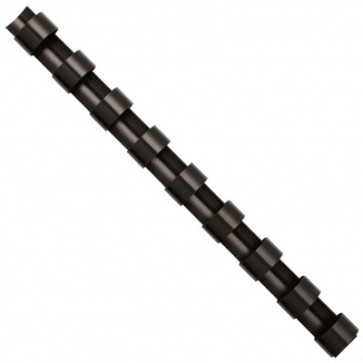 Inele din plastic pentru indosariere, 6mm, negru, 100 bucati/cutie, FELLOWES