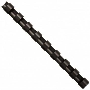 Inele din plastic pentru indosariere, 25mm, negru, 50 bucati/cutie, FELLOWES