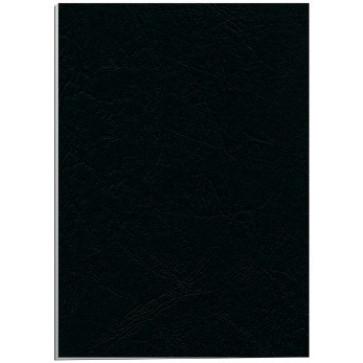 Coperti imitatie piele - negru, A4, 250 g/mp, 100 bucati/top, FELLOWES Delta