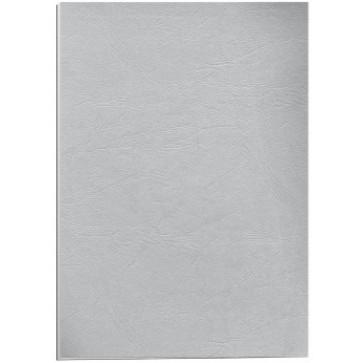 Coperti imitatie piele - gri, A4, 250 g/mp, 100 bucati/top, FELLOWES Delta