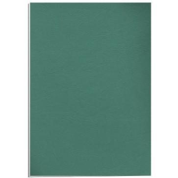 Coperti imitatie piele - verde, A4, 250 g/mp, 100 bucati/top, FELLOWES Delta