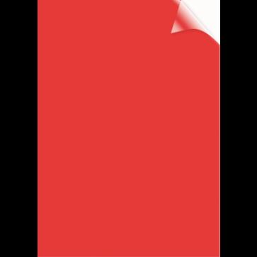 Coperti transparente, rosu, A4, 200 microni, 100 buc/top, FELLOWES