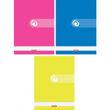 Caiet A4, matematica, cu spira, 70 file, HERLITZ Rainbow