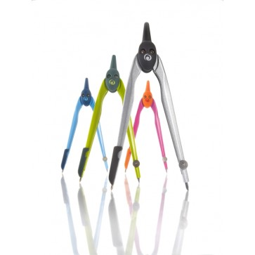 Compas din plastic, diverse culori, HERLITZ