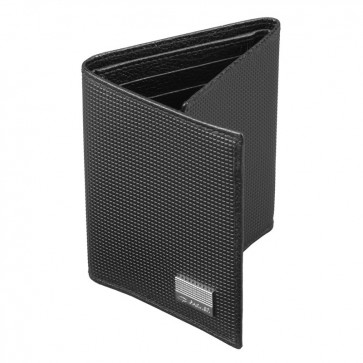 Portofel pliabil piele neagra stampata, PARKER