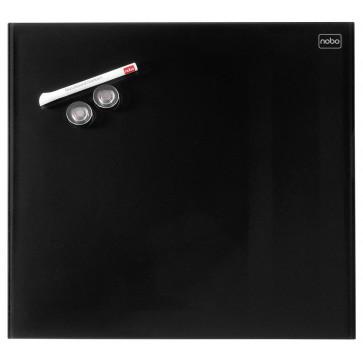 Tabla magnetica - whiteboard, din sticla, 30 x 30cm, negru, NOBO Diamond