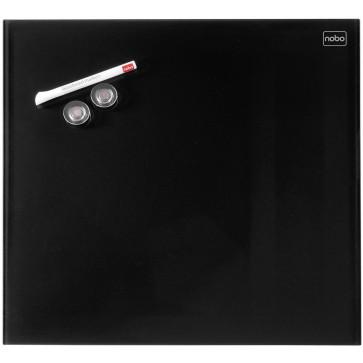 Tabla magnetica - whiteboard, din sticla, 45 x 45cm, negru, NOBO Diamond
