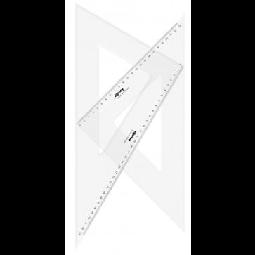 Echer, 45° si  30°/60°, 35cm, 2 buc/set, ROTRING Centro