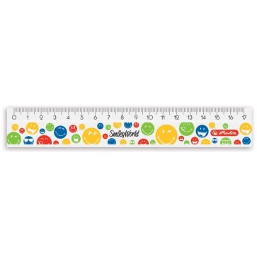 Rigla din plastic, 14cm, HERLITZ Smiley World