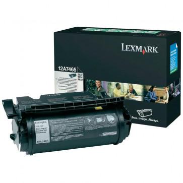 Toner, black, LEXMARK 12A7465