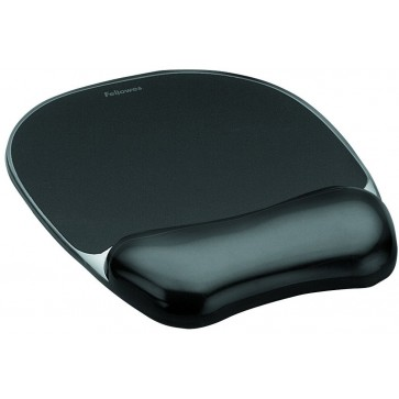 Mouse pad cu gel, negru, FELLOWES Crystal