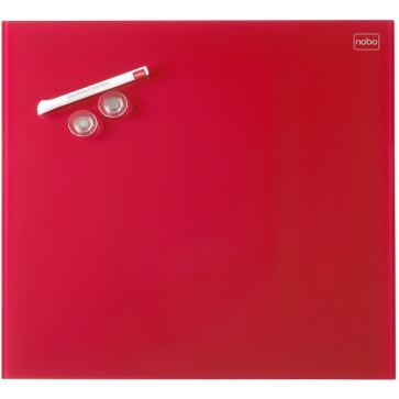 Tabla magnetica - whiteboard, din sticla, 30 x 30cm, rosu, NOBO Diamond