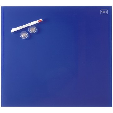 Tabla magnetica - whiteboard, din sticla, 45 x 45cm, albastru, NOBO Diamond