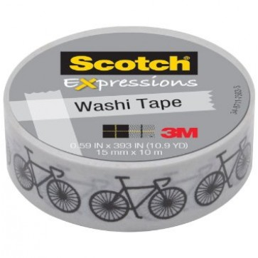 Banda adeziva decorativa, bicicleta, SCOTCH